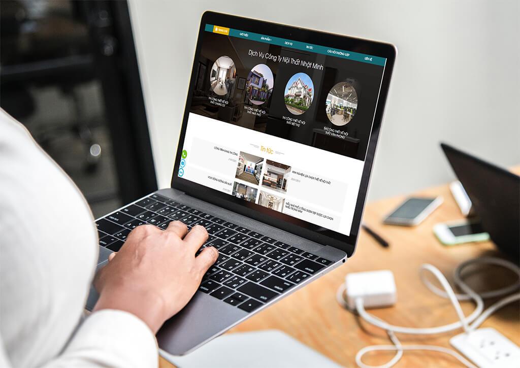 Thiết kế web công ty nội thất Nhật Minh